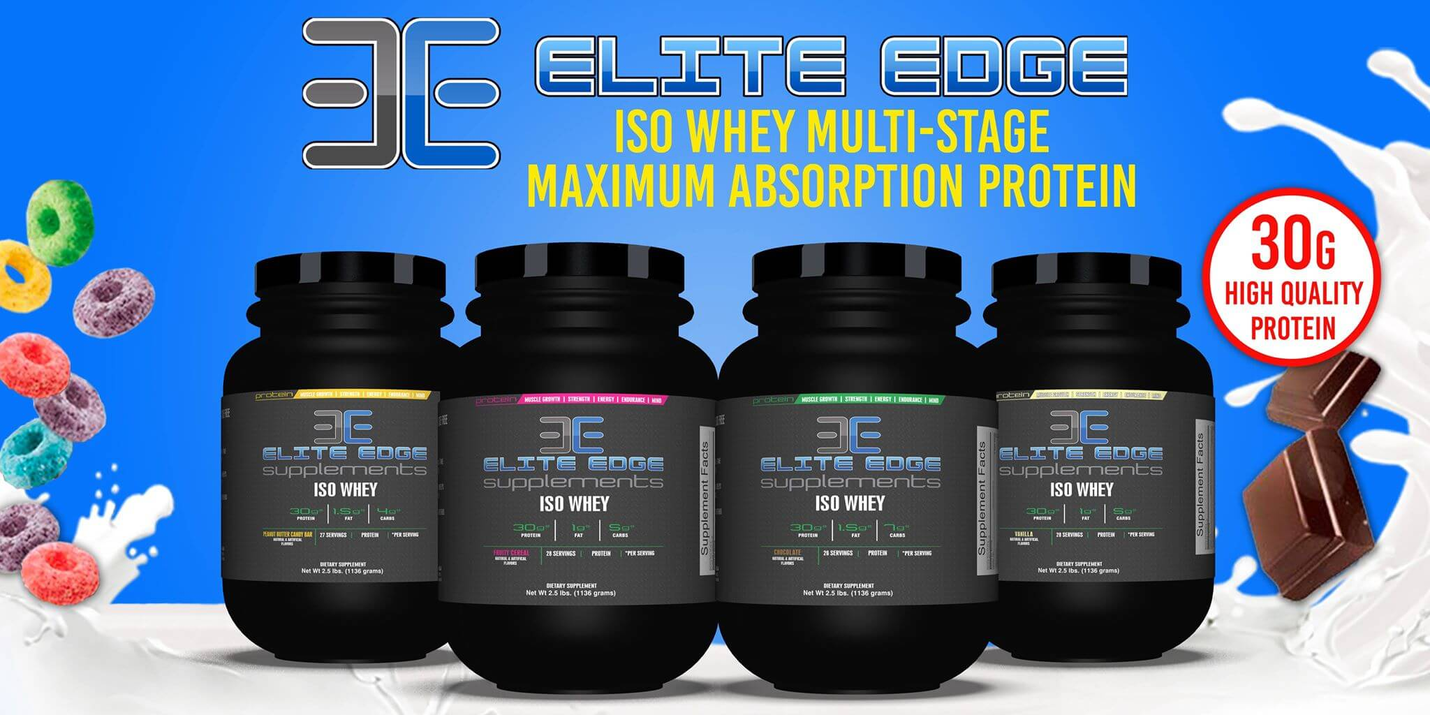 A photo of Elite Edge Supplements ISO Whey