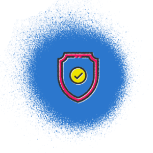 Icon of a shield with a checkmark on it.