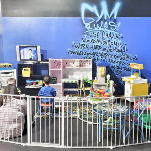 Photo of kids play area at Elite Edge Transformation Center.